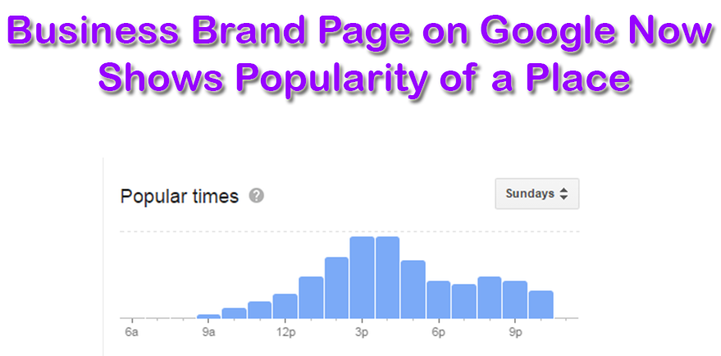 Business Brand Page On Google Now Shows Popularity Of A Place