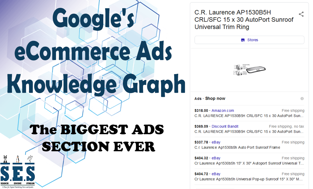 Google's eCommerce Ads in the Knowledge Graph - Featured Update