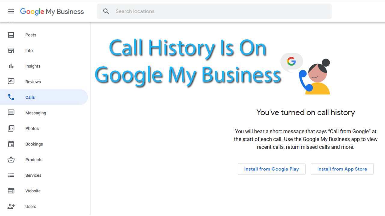 Call History Is On New Update on Google My Business Listing Dashboard