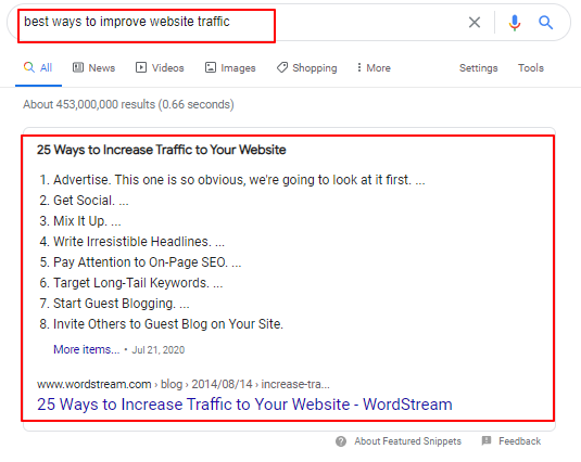 Rich Snippet SEO Key Trend for 2021