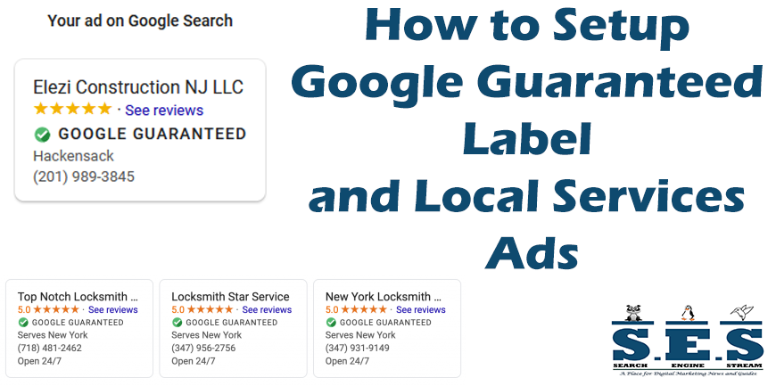 How to Setup Google Guaranteed Label and Local Services Ads