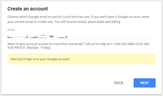 Step 2 -Setup Google Local Services Ads for US and Canada
