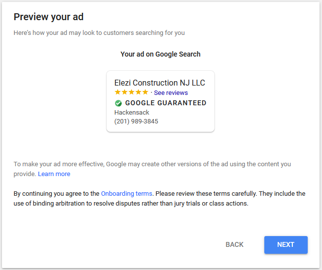 Step 7 -Setup Google Local Services Ads for US and Canada1